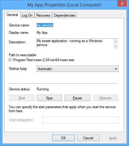 Services screenshot